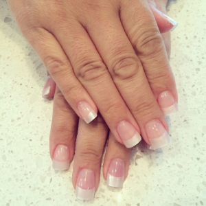 Gel Clear Pearl & White Tips Fill in
