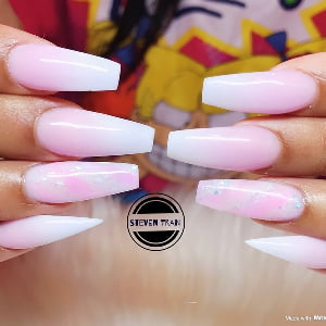 Fill-in Classic Pink & White Ombré Nail Color - Acrylic