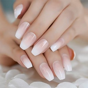 Pink & White/Ombre Full Set