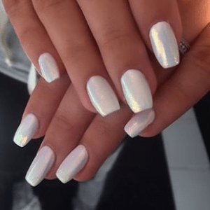 Powder with White & Pearl Tips