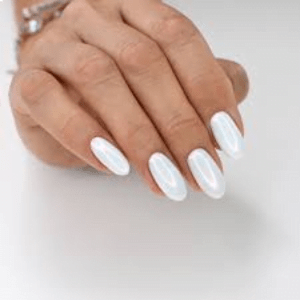 White Pearl Tips Regular Top Coat Fill in