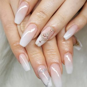 Dipping Nails with Tips Ombre/French