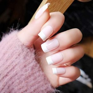 Acrylic White Tips Full Set