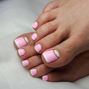 Toe Fill-in Pink & White