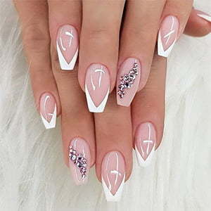 Acrylic Pink & White Fill in