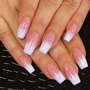 Pink & White U.V Gel Fill-ins