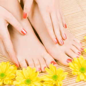 Gel Manicure + Regular Pedicure