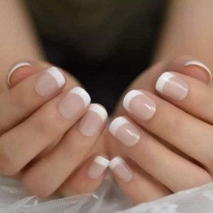 White Tips Acrylic Full Set
