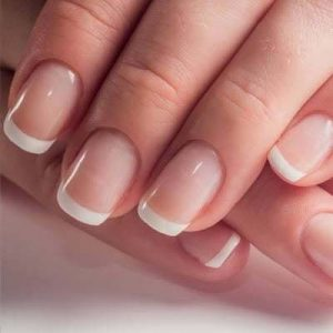 French Manicure with Gel