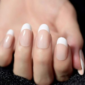 White/Pearl Tips Solar Nails Fill-ins