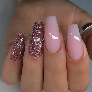 Gel Color Change (with French or Glitter) Manicure