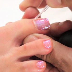 Gel Glitter Pedicure