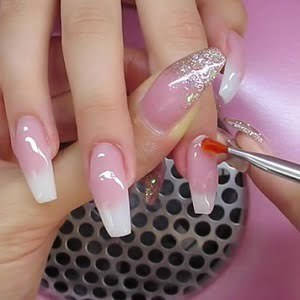 LCN Pink & White UV Gel Fill-ins