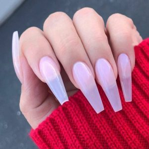 Gel Color with Artificial Nails