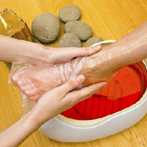 Hot Rock Pedicure with Paraffin Wax Treatment