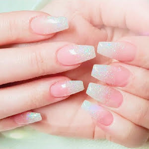 Dip Nail Tips Pink & White/Ombre
