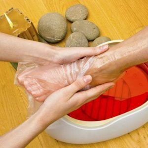 Paraffin Treatment Toes