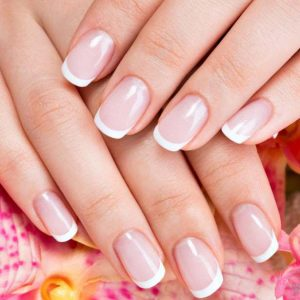 Solar Nails Pink & White Full Set