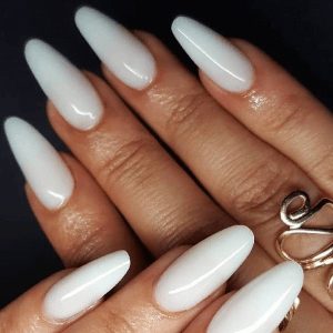 Acrylic Nails White Tips Full Set