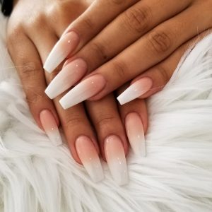 Ombre Pink & White Full Set