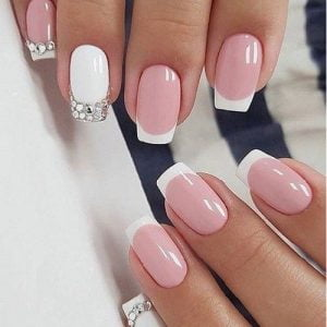 French on Artificial Nails