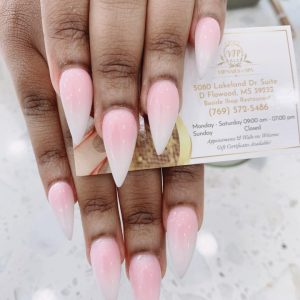 Dipping Pink & White