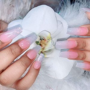Pink & White on Natural Nails