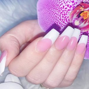 Pink & White w Extended Tips