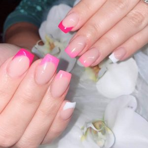 Ombre Dipping on Natural Nails