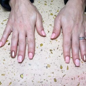 Acrylic Nails with Shellac Fill-ins
