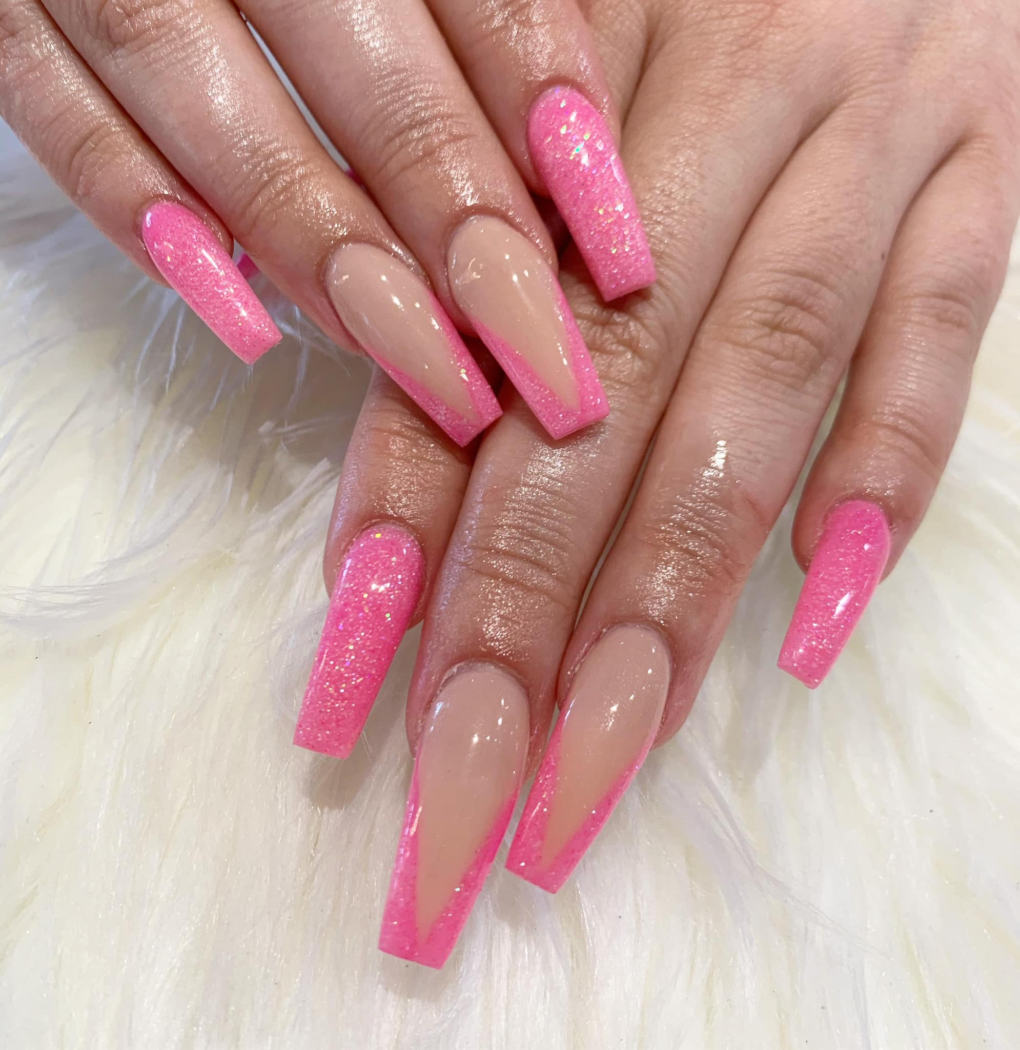 SNS Dipping Powder Pink & White Fill-ins